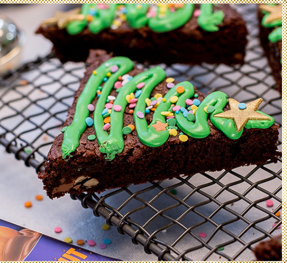 Festive Brownie Trees